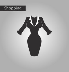 black and white style icon office dress vector image