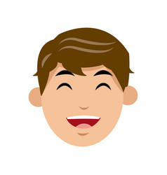 Character man face laughing image vector