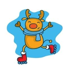 Collection of deer Christmas theme vector image