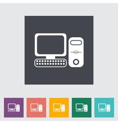 Computer icon 2 vector image