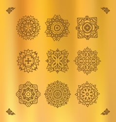 Design elements graphic thai design on a gold clot vector