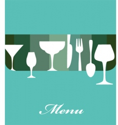 drinks menu vector image vector image