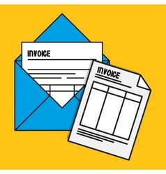 Envelope document paper invoice payment icon vector