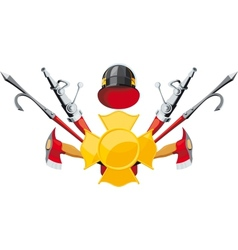 fire-fighting equipment emblem vector image