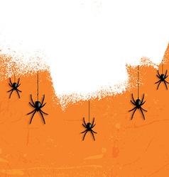grunge halloween spiders 2708 vector image vector image
