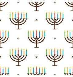 Hanukkah holiday seamless pattern background vector image vector image