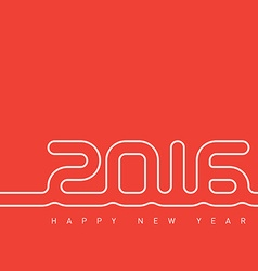 Happy new year 2016 greeting card with original vector image vector image