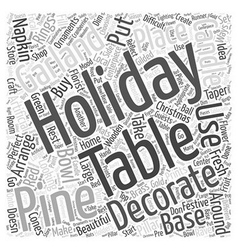 Holiday table decoration word cloud concept vector
