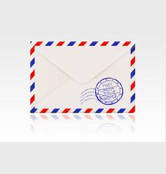 international mail envelope backside with postal vector image vector image