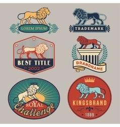 Lion labelcolor vector image