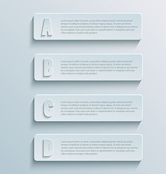paper infographic1 vector image vector image
