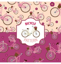 Pattern bicycle set number 3 vector