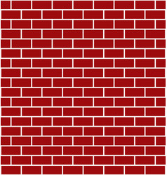 red brick wall - element for design for christmas vector image