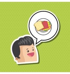 Sandwich design healthy food concept menu icon vector