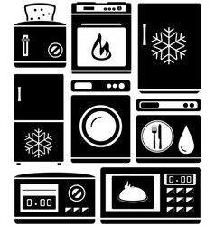 Set home appliance for kitchen vector