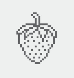 strawberry pixel icon in the eps 8 format vector image vector image