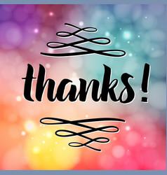 thank you phrase for social media vector image vector image