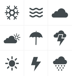 weather Icons Set Design vector image vector image