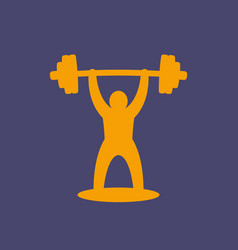 weightlifting icon logo element vector image vector image