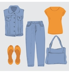 Woman outfit vector