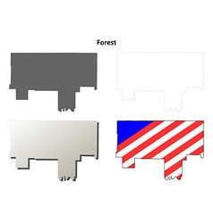Forest map icon set vector