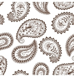 Seamless pattern paisley indian vector