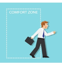 Out of the comfort zone vector