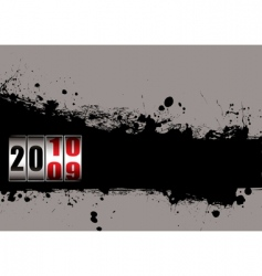 Grunge new year 2010 vector