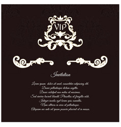 An elegant invitation for vip with foliage and vector