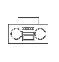 stereo radio music play retro outline vector image
