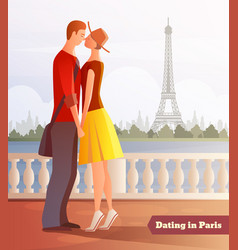 Dating in paris background vector