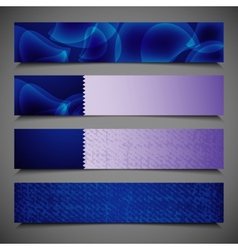 Set of abstract bright blue banners vector