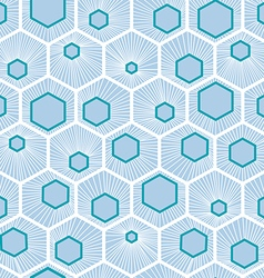 White honeycomb pattern design vector