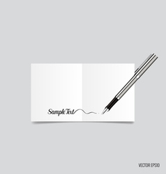 Collection of white note papers ready for your vector