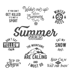 Famous quotes about winter sports vector