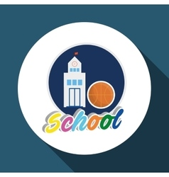 Education design school icon isolated vector