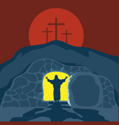 A 4the silence of the risen jesus christ vector