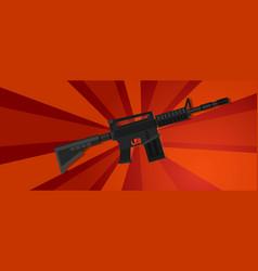 Arm assault rifle military war forces revolution vector