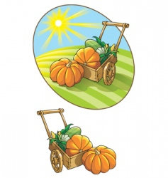 autumn harvest vector image vector image