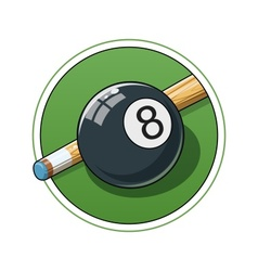 Billiard ball vector image vector image