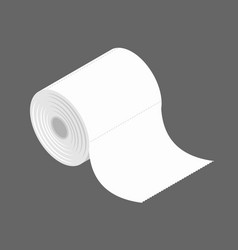 Bumf isolated roll of toilet paper bumph vector
