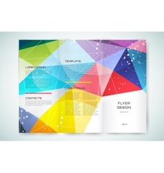 Business card template Abstract triangle design vector image