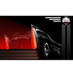 Car poster with decorative auto vector image