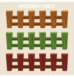 cartoon colorful wooden fence vector image vector image
