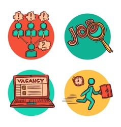 Job business concept icons composition vector