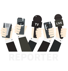 Journalism concept vector