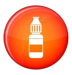 Liquid for electronic cigarettes icon flat style vector