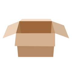 open flat box vector image vector image