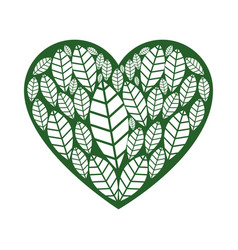 Passion ecology leafs vector