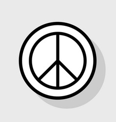 Peace sign flat black icon vector